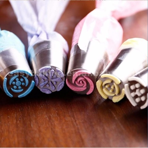 DIY Icing Piping Nozzles Stainless Steel Cake Decorating Tools