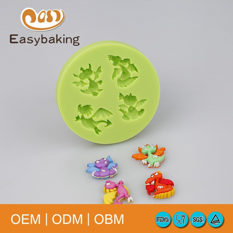 Family DIY Mini Silicone Dinosaur Mold For Cake Decorating