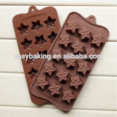 Safe non-toxic Silicone Five-pointed star shape chocolate molds polycarbonate