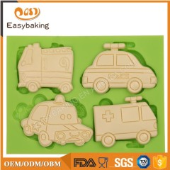 Mini Silicone POLICE Ambulance Car Cake Mold 3D