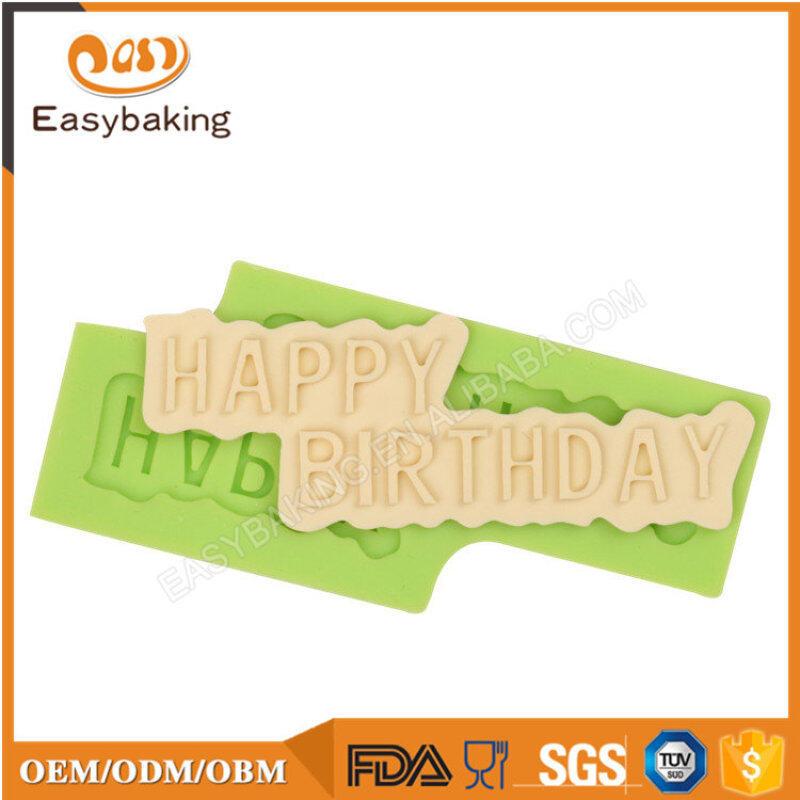 Plaque Cake Decorating Happy Birthday Silicone Mould