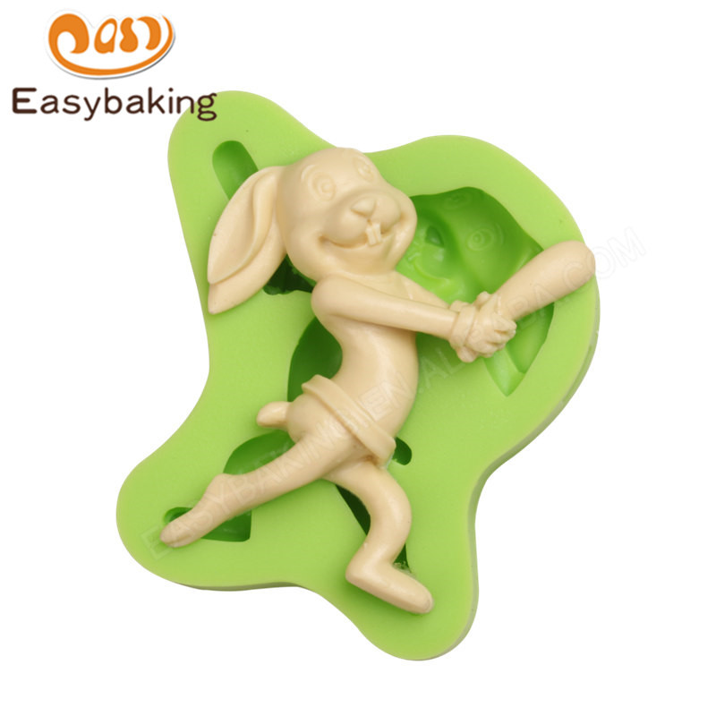 3D Easter Bunny Silicone Cake Decorating Mold Fondant Chocolate Silicone Mould