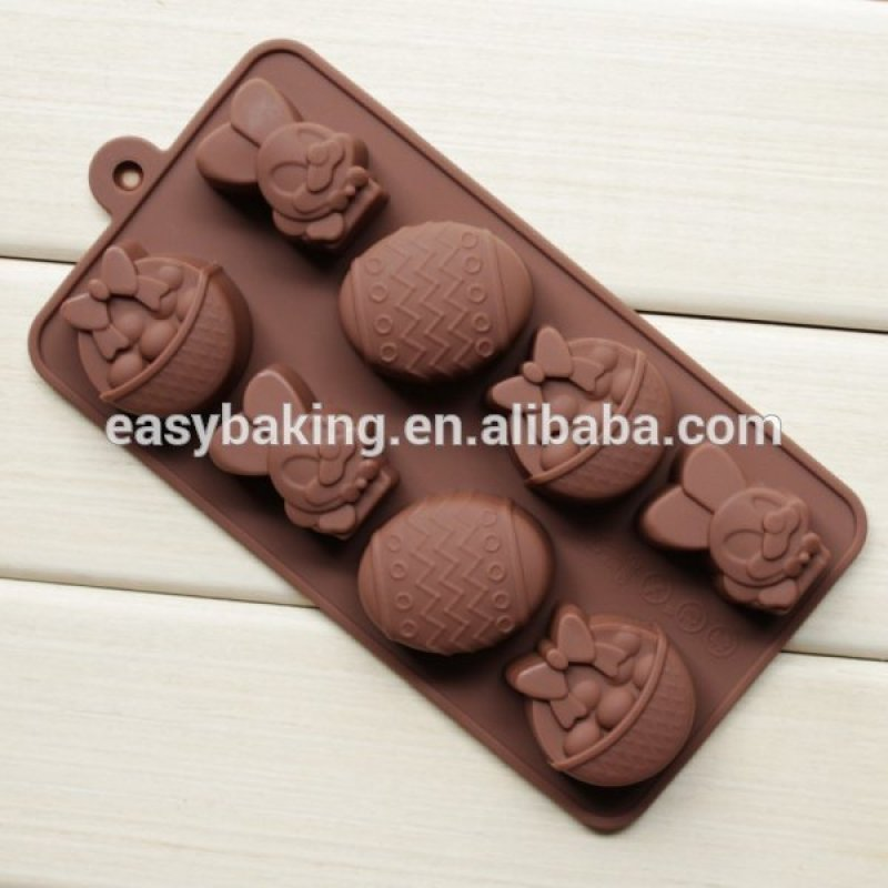 Easter theme Bunny Eggs Shaped Silicone Chocolate Mold