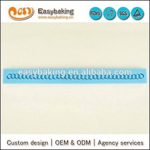 Customized 3d Fondant Bag chain cake border silicone fondant mold