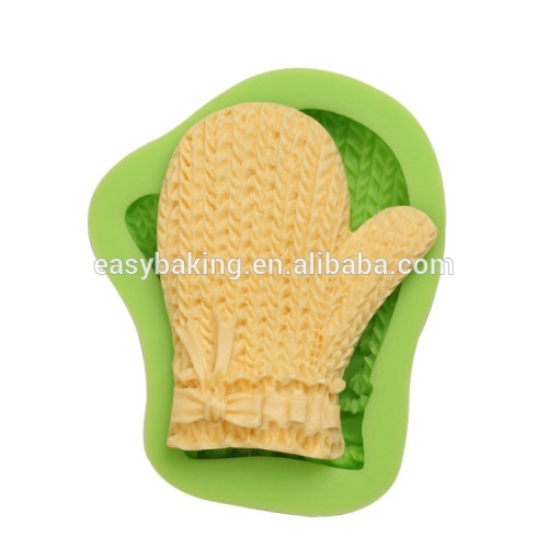 Lovely baby series baby glove shape silicone soap molds craftwork making