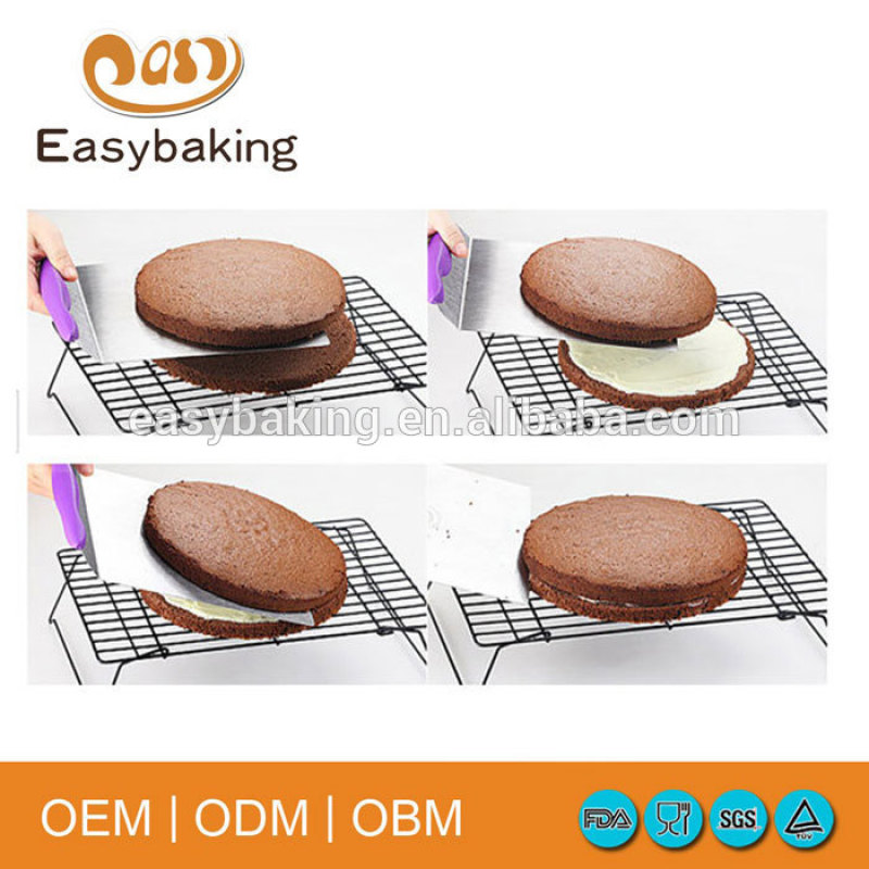 8 inch Stainless Steel Cake Lifter Kitchen Accessories Baking Tools for Cakes Cookies Pizza Random Color