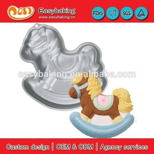 Factory rocking horse shape aluminum alloy cake pizza baking pan