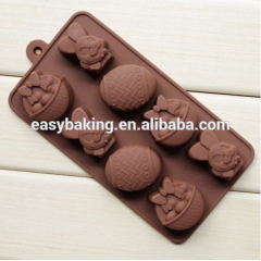 Customizable Silicone molds Easter rabbit&Eggs Chocolate Molds