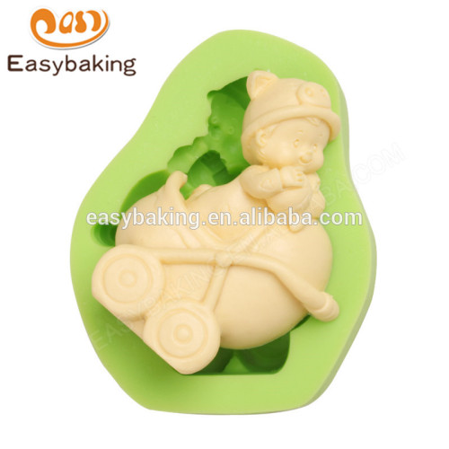 Best price customized high quality baby carriage silicone sugar craft mold