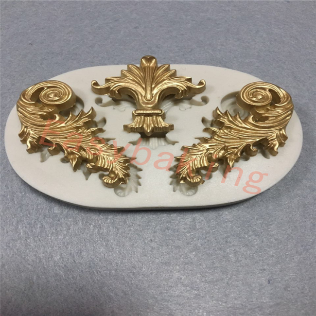 2017 Wedding Cake Border 3in1 Scroll Silicone Molds