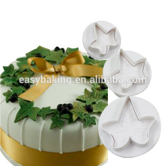 Cake Decorating Classic Gumpaste Ivy Leaf Fondant Plunger Cutter