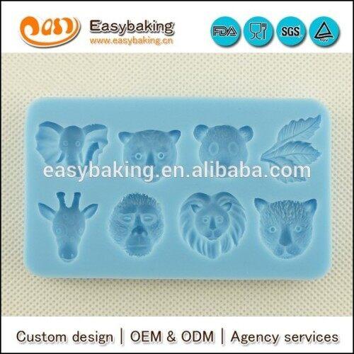 Animal series silicone molds fondant tools cake decorating