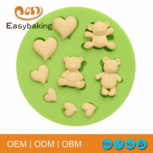 Hot sale bear shaed soap molds silicone