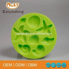 Ocean Theme Starfish Snail Shell Shape Chocorates Silicone Cupcake Molds