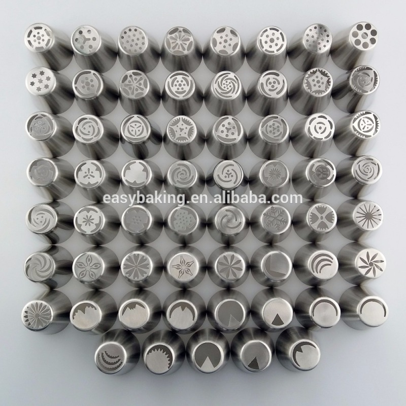 Multi flower pattern Stainless steel Russian tips nozzles for cupcake Decorating