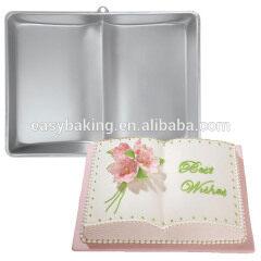 Non-stick book shaped custom aluminum baking cake pans
