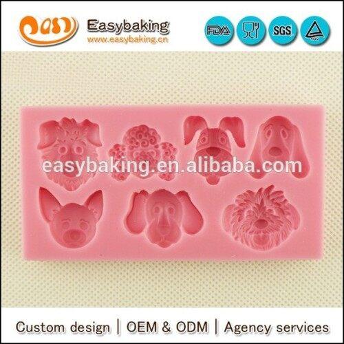 Multiple pet dog shapes cake decorating fondant silicone animals mold