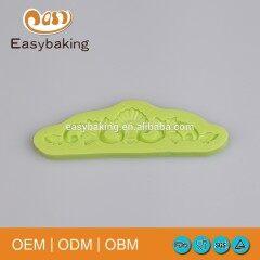 Baroque Design Vintage Fondant Cake Bakeware Decorating Silicone Mold