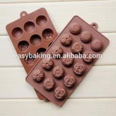 Top Selling Products 2016 Silicone Easy Chocolate Rose Molds