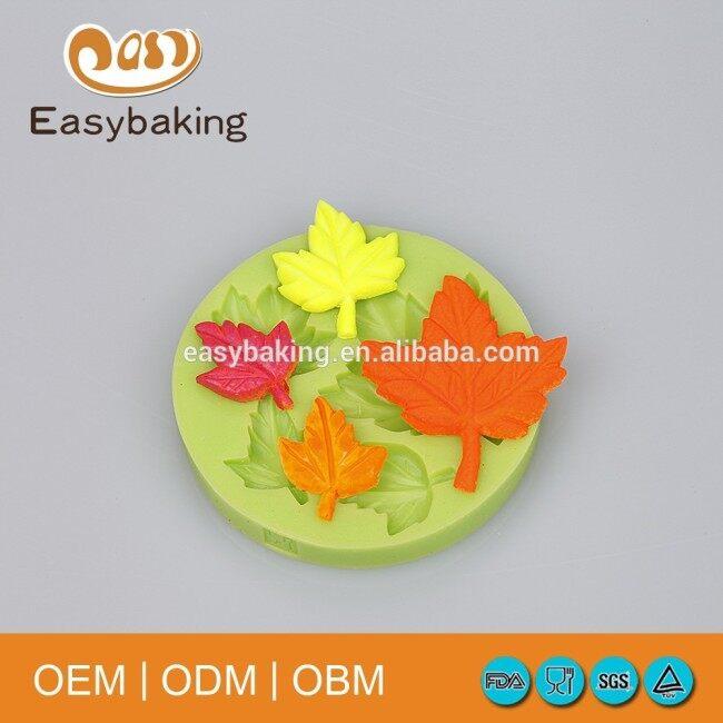 New Products Cake Baking Silicone Maple Leaves Shaped Fondant Molds