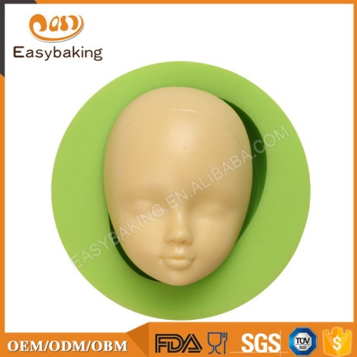 OEM Custom Lovely Babies Face Silicone Soap Molds