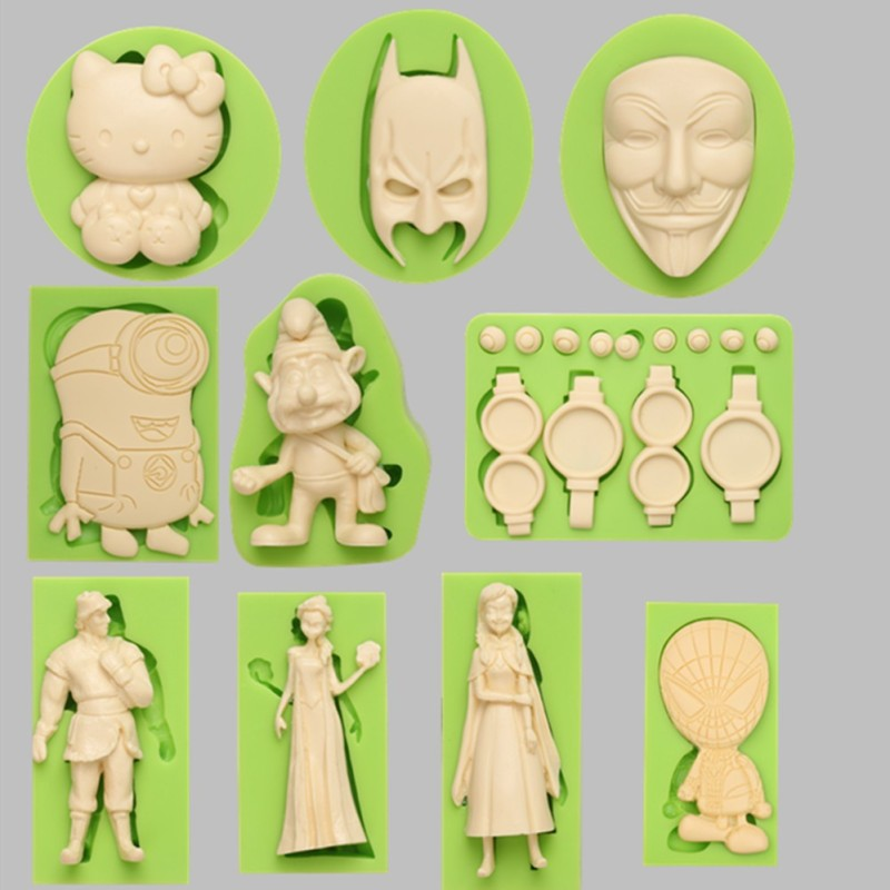 Lovely Little Girl Shape Silicone Baby Cake Fondant Moulds