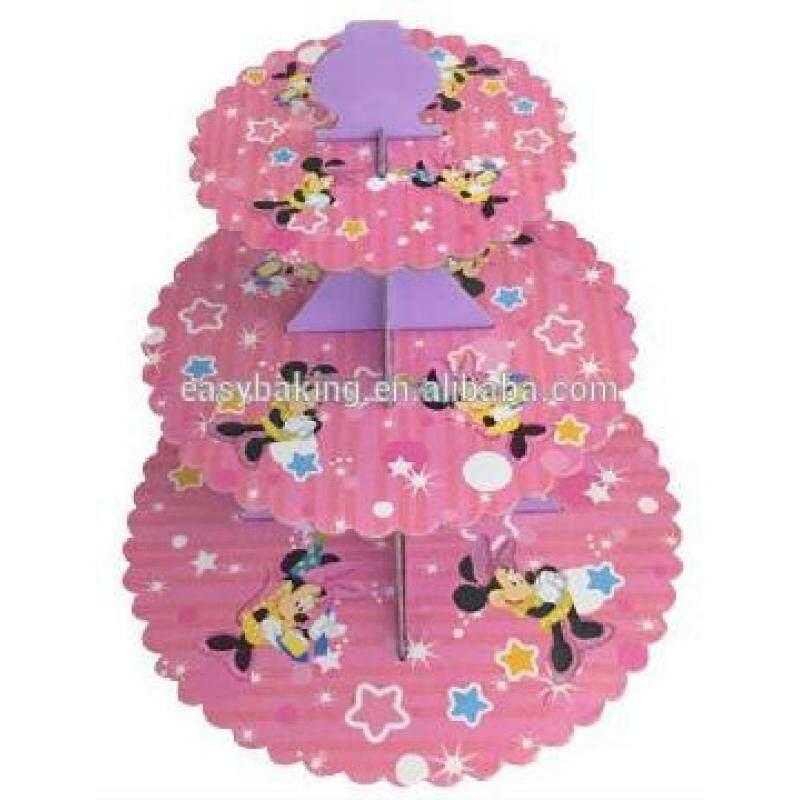 Colorful design cartoon cupcake stand cupcake tray birthday party