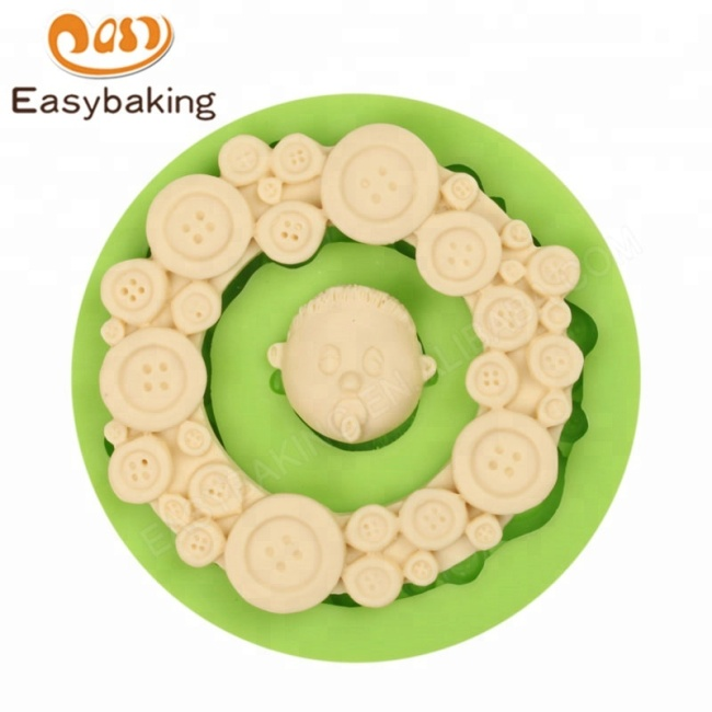 Factory Directly Sale Buttons Frame Baby Head Shape Cake Decorating Tools