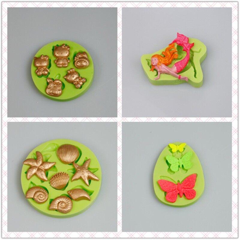 5 Holes Rabbit radish flower Chocolate Easter Egg Molds Silicone