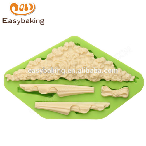Promotional healthy high quality 157*94*15 funny silicone cake molds