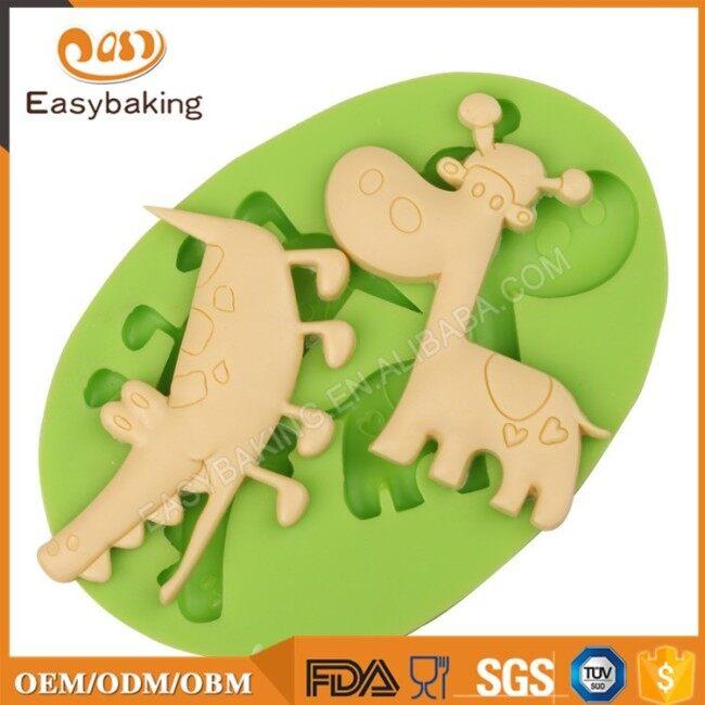 Crocodile and Giraffe Shaped Animal Cake Decor Mould Silicone