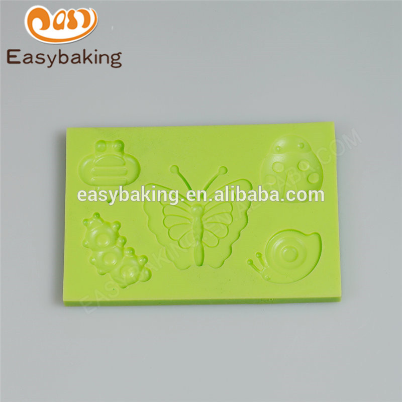 Chinese supplier wholesales new arrival custom made insect series silicone molds