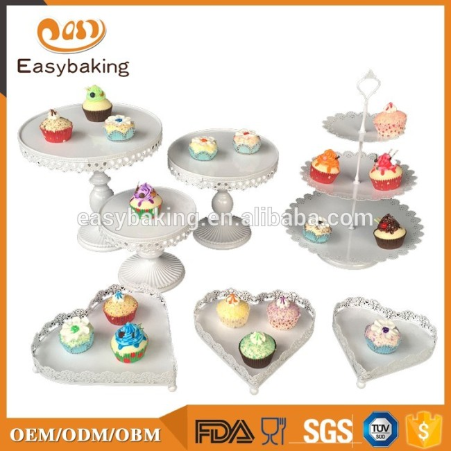 Hot selling high quality many styles cupcake wedding cake stand