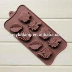 Soft silicone candy accessories lovely leaves shaped chocolate mold