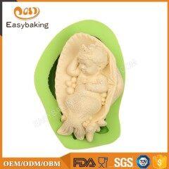 Wholesale Alibaba Baby Mermaid Princess Silicone Soap Molds