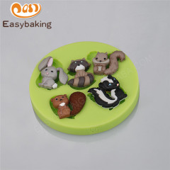 funny animal rabbit shape silicone fondant cake chocolate mold