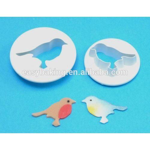 Lovely 2 Pack Mini Bird Fondant Plastic Cookie Cutter Set