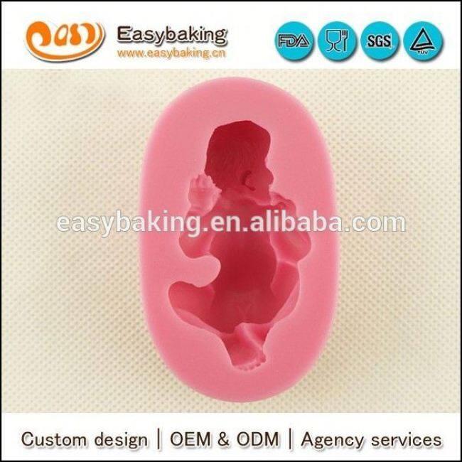 Wholesale custom 3d baby silicone molds for fondant cake decorating