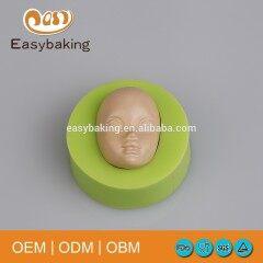 3D Fondant Silicone Human Lady Face Moulds