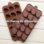 Silicone heart shape candle mold