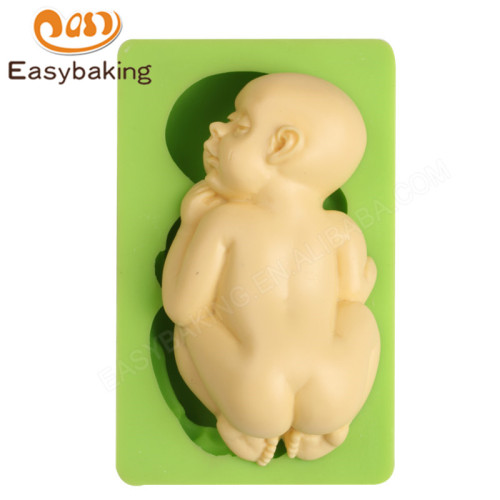 Hot selling sleeping baby silicone sugarcraft mould
