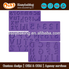 Alphabet Letters & Number Cake Decorate Fondant and Gum Paste Mold