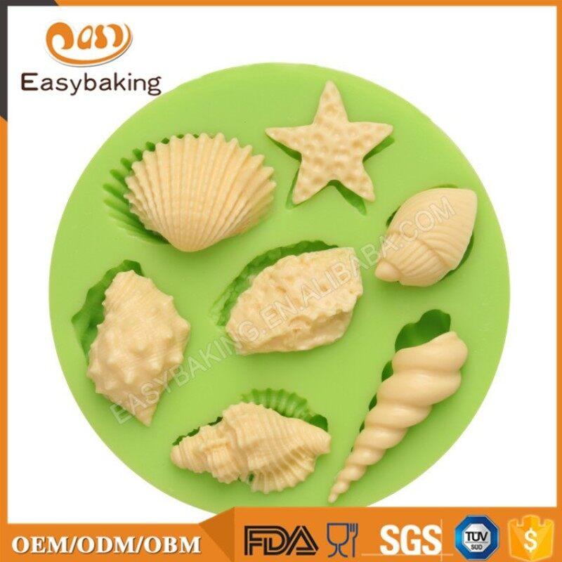 Assorted Animals Sea Star Seashells Conches Fondant Silicone Molds