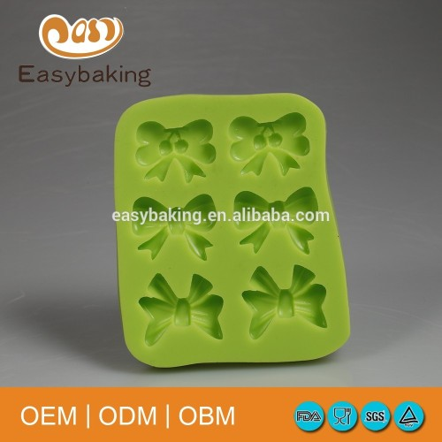 Green bows shape Chocolate Candy 3D Silicone Fondant Mold Mould Cake Decoration baking soap tools kitchen accessories