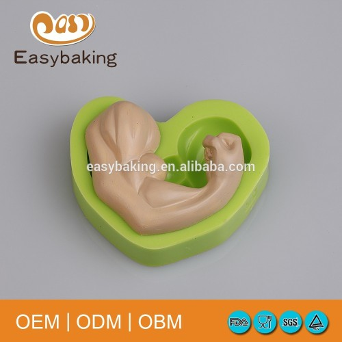 Factory Customized Fondant Silicone Cake Decoration 3D Human Muscle Moulds