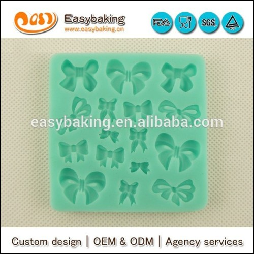 Different bow shapes silicone molds for candy