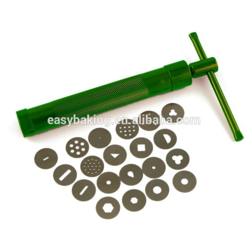 20 Discs Cake Decoration Metal Fondant Gun Ulitimate Clay Extruder