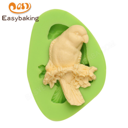 Stand bird on branch non-stick baking silicone molds