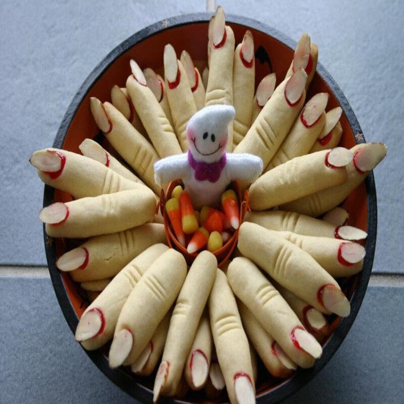 Lifelike halloween theme sponge fingers silicone molds
