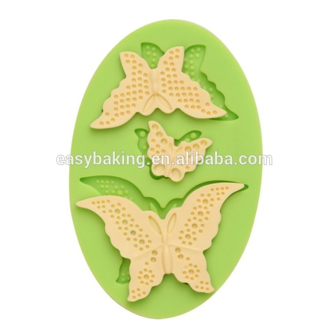 DIY butterfly shape cake decoration silicone fondant cake mold